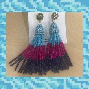 Jewelry - Ombre multi strand beaded earrings